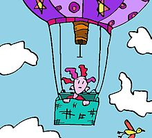 Silly Forgot She Was Scared Of Heights. Alas The Hot Air Balloon Was Not One Of Her Better Ideas. by Monica Ellis