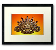 We Remember. Framed Print