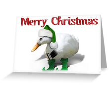 Web Footed Elf - Santa's Little Helper Greeting Card