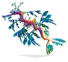 Geometric Abstract Weedy Sea Dragon by AquanautStudio