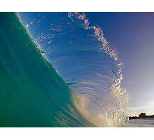Hawaii Shore Breaking Flare Photographic Print