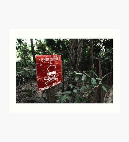 Cambodian danger Art Print