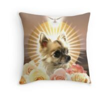 Our Lady of the Soiled Flokati Throw Pillow