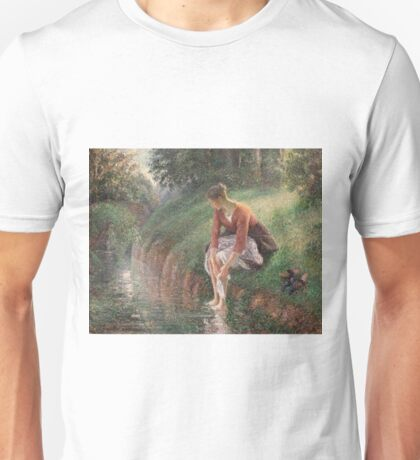 Camille Pissarro - Young Woman Bathing Her Feet, 1895 Unisex T-Shirt