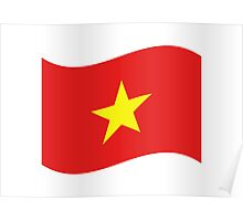 Vietnam Flag Wave Poster