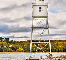 Grand Marais Lighthouse by Kenneth Keifer