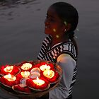 flower offerings for mother ganga by Rae Stanton