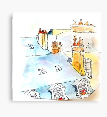 Rooftops and Chimney Pots, Paris Metal Print