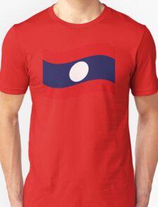 Laos Flag Wave Unisex T-Shirt