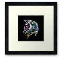 Day Of The Dead Skull Horse Head Framed Print