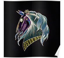 Day Of The Dead Skull Horse Head Poster