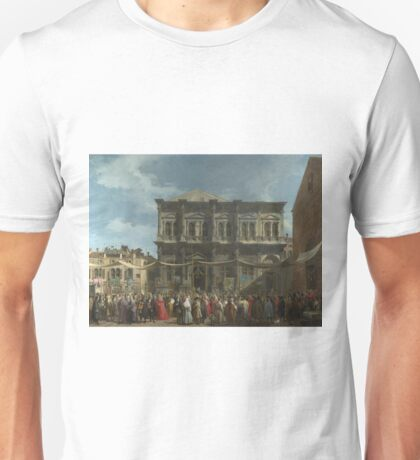 Canaletto - Venice - The Feast Day Of Saint Roch Unisex T-Shirt