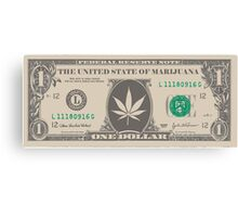 Marijuana bill Canvas Print