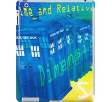 TARDIS Time and Relative Dimension in Space iPad Case/Skin