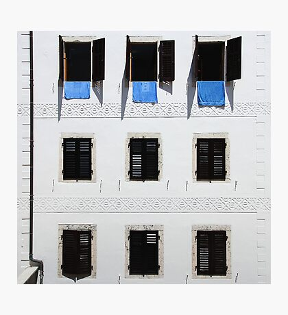 Building extrerior with rows of identical windows Photographic Print