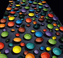 coloured bowls by Marina Hurley