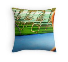 Deck Chairs Throw Pillow