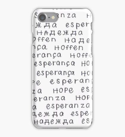 Hope In 5 Languages iPhone Case/Skin