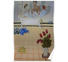 Bathroom Scene Poster