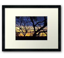 Verandah View Blue Framed Print