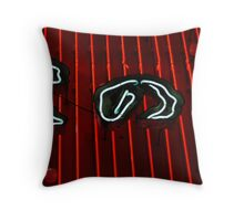 red neon Throw Pillow