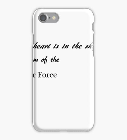 Half my heart is in the sky - Mom iPhone Case/Skin