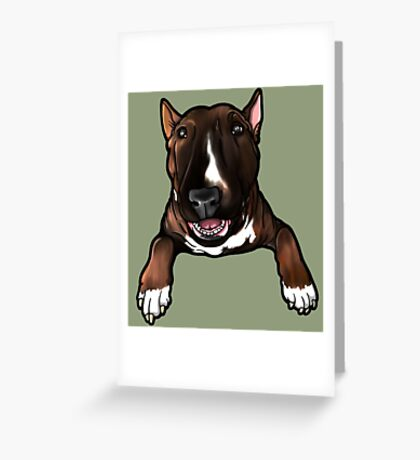 English Bull Terrier Bruce Greeting Card