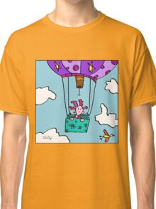 Silly Forgot She Was Scared Of Heights. Alas The Hot Air Balloon Was Not One Of Her Better Ideas. Classic T-Shirt