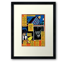 Bird of Steel Comix – # 7 of 8   - (Red Bubble POP-ART COLLECTION SERIES) Framed Print