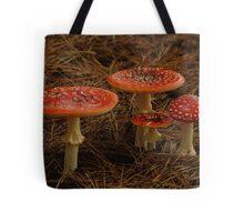 Red Fungi,Otway Ranges Tote Bag