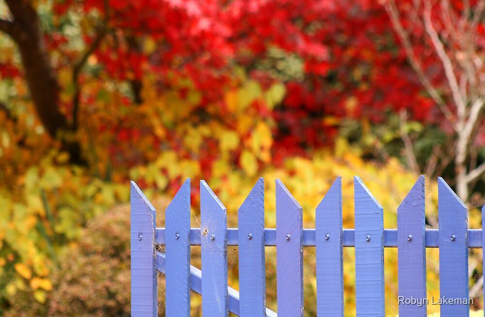Blue gate by Robyn Lakeman