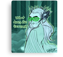 Thranduil does the Fox Dance Canvas Print