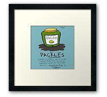 Pickles Packles Framed Print