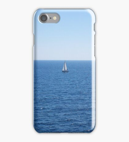 Lonely ship in seascape iPhone Case/Skin