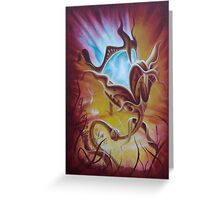 Night Light, Surreal Lamp Painting Greeting Card
