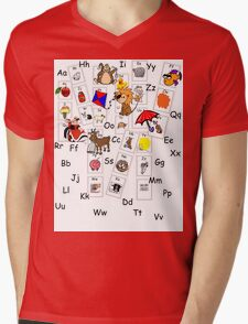 Alphabet Tee Mens V-Neck T-Shirt