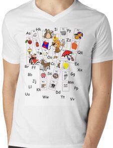 Alphabet Tee Mens V-Neck T-Shirt