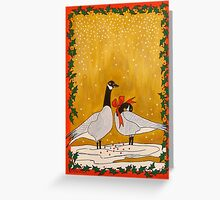 Christmas Geese Greeting Card