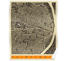 SAINT LOUIS MAP Poster