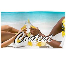 Content - Beach Poster