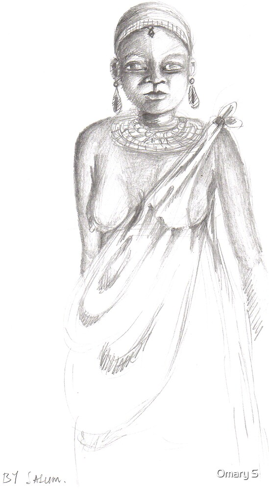 Sketch of African girl by Omary S