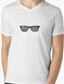 Fandom Glasses Mens V-Neck T-Shirt