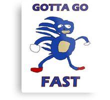 Sanic - Gotta go fast Metal Print