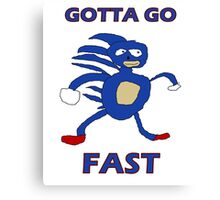 Sanic - Gotta go fast Canvas Print