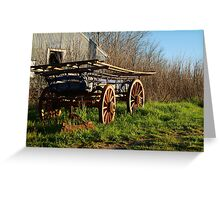 Old Cart, Ascot Victoria Greeting Card