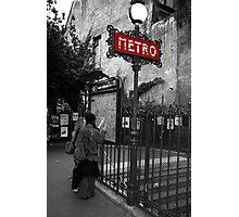 Paris Metro Photographic Print