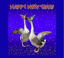 HAPPY NEW YEAR - Celebrating Geese by Gravityx9