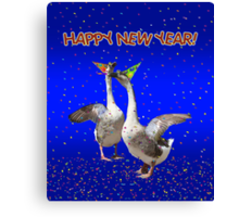 HAPPY NEW YEAR - Celebrating Geese Canvas Print