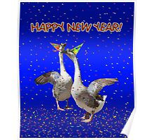 HAPPY NEW YEAR - Celebrating Geese Poster