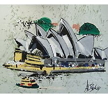 Sydney Opera House - semi-abstract painting Photographic Print
